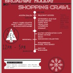 poster holiday shopping crawl web